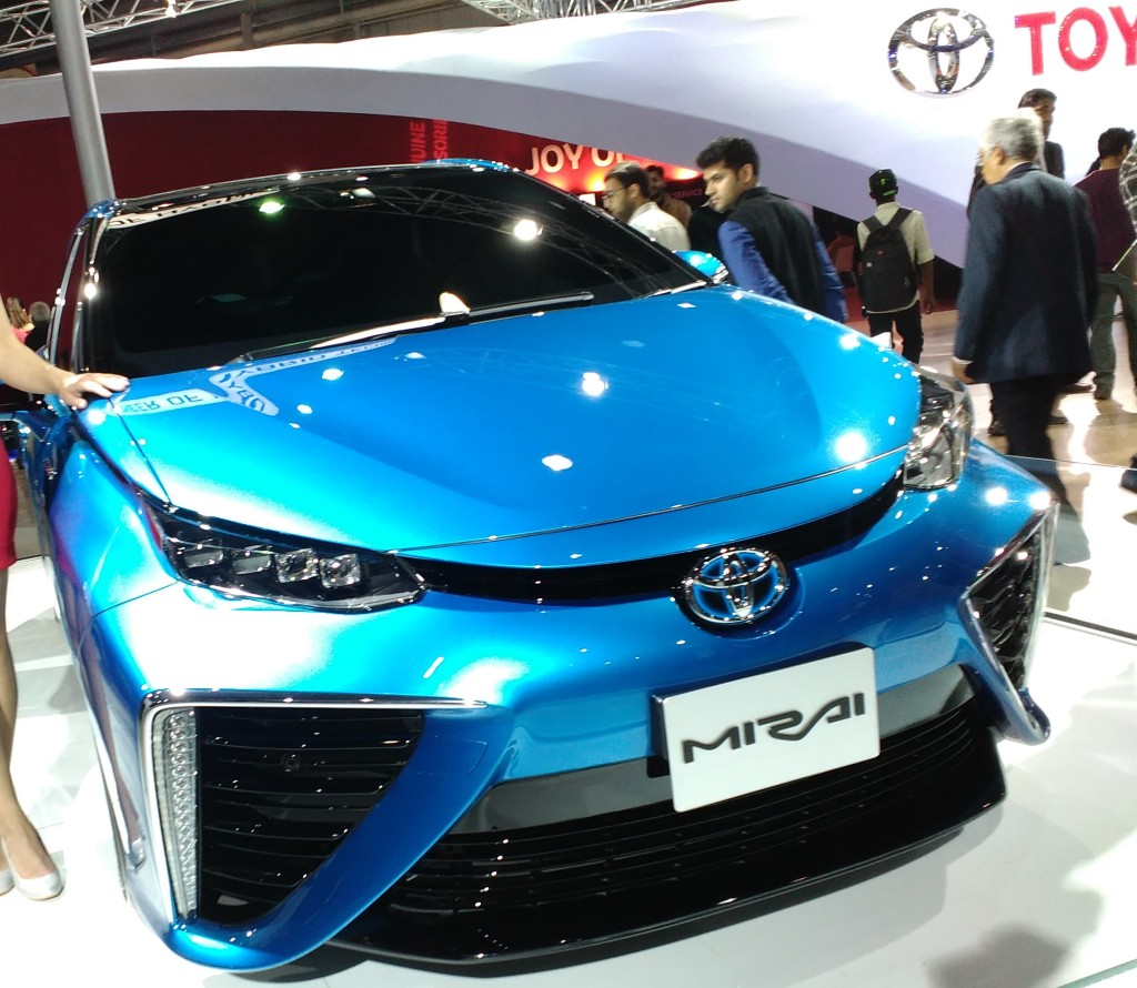 Toyota Mirai Hydrogen Fuel Cell car showcased in Auto Expo 2016, Delhi NCR, India Copyright: Abirbhav Mukherjee